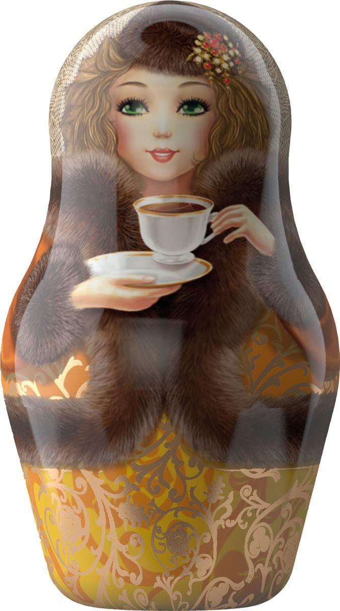 Майский Чайная матрешка, золотая, черный листовой чай, 30г100189_золотаяМатрёшка - традиционный символ России, её гордость! Матрёшка от бренда Майский - это матрёшка с русской душой и цейлонским черным крупнолистовым чаем.