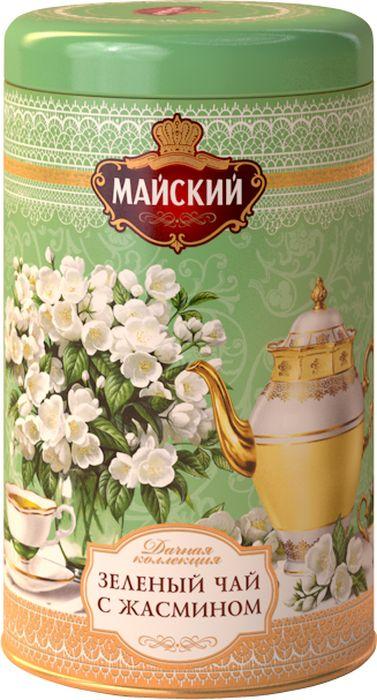 Майский Дачная Коллекция Жасмин зеленый листовой чай с натуральными добавками, 80 г100362Китайский зеленый крупнолистовой чай с лепестками жасмина. В составе купажа только натуральные ингредиенты.Всё о чае: сорта, факты, советы по выбору и употреблению. Статья OZON Гид