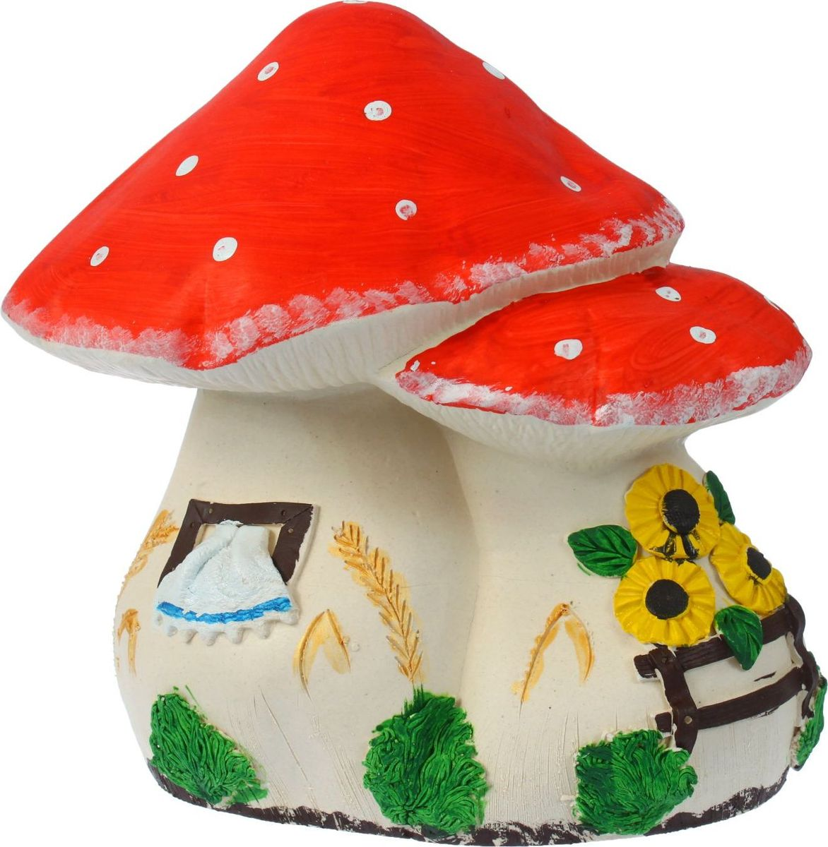 Копилка Керамика ручной работы Мухомор, 18 х 30 х 26 см1299191Поставьте копилку в форме гриба на кухне или в прихожей, ведь этот лесной житель является символом долголетия. Откладывая в неё деньги на покупку приятных мелочей, вы точно будете знать, что однажды она вас выручит Обращаем ваше внимание, что копилка является одноразовой.
