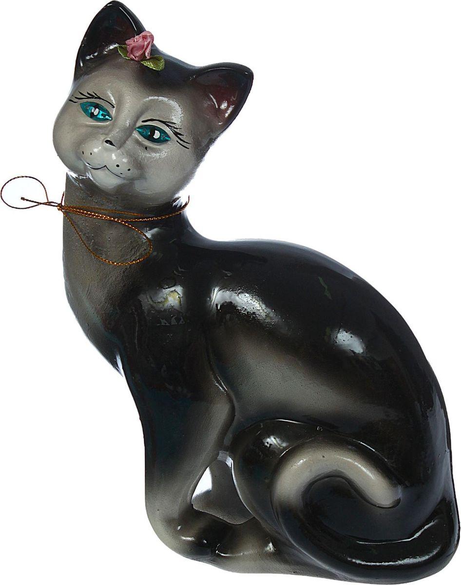 Копилка Керамика ручной работы Кошка Шарлотта, цвет: черный, 10 х 15 х 24 см1367577Женщины любят баловать себя покупками для красоты и здоровья. С помощью такой копилки можно незаметно приблизиться к приобретению желаемого. Образ кошки всегда олицетворял привлекательность и символизировал домашнее спокойствие. Поставьте изделие возле предметов роскоши, и оно будет способствовать их преумножению. Обращаем ваше внимание, что копилка является одноразовой.