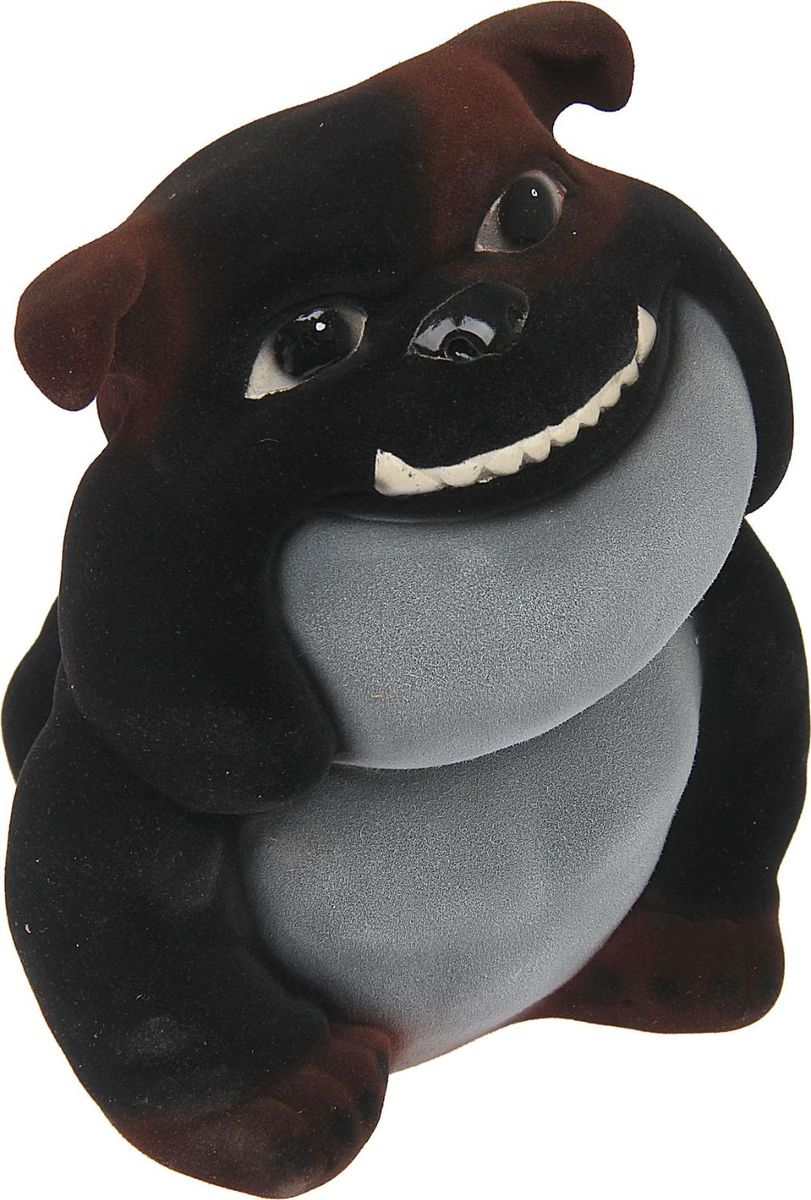 Копилка Керамика ручной работы Собака Ровер, цвет: черный, темно-коричневый, 20 х 20 х 23 см1465351Часто бывают срочно необходимы средства. Чтобы не попасть в неловкую ситуацию, начните откладывать! С копилкой у вас всегда будет сумма на чёрный день. Заведите домашнего питомца прямо на рабочем столе! Собака всегда была верным другом, помощником и защитником человека. Изделие в виде этого животного сохранит ваши сбережения. Обращаем ваше внимание, что копилка является одноразовой.