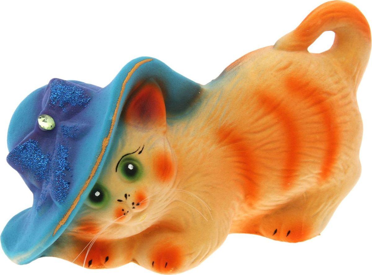 Копилка Керамика ручной работы Кошка в шляпке, 13 х 27  15 см