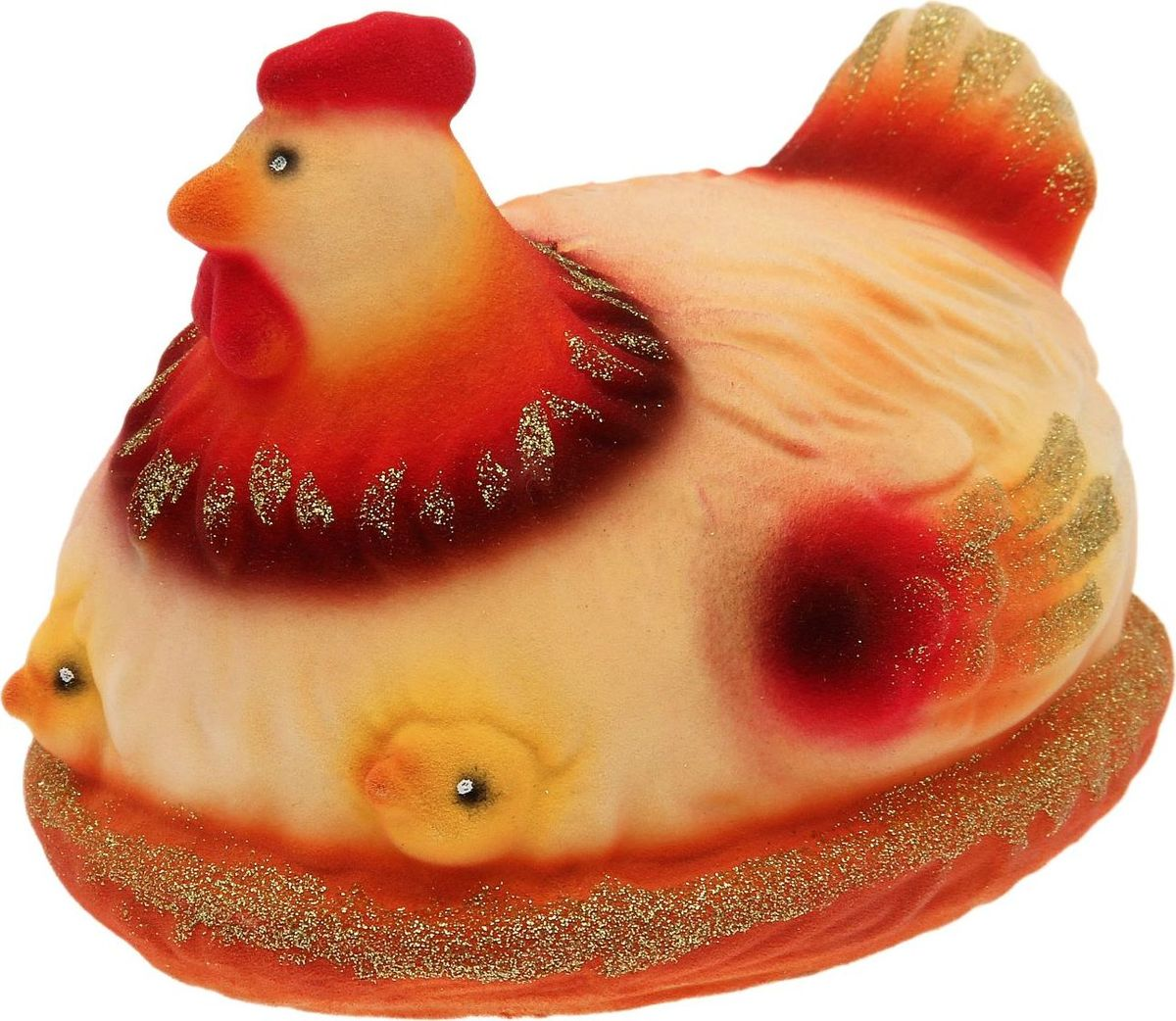 Копилка Керамика ручной работы Курица с цыплятами, 17 х 14 х 13,4 см1687359Копилку с символом петуха стоит поставить дома или подарить близким людям, чтобы в дальнейшем сопутствовала удача, а доходы приумножались. Складывайте в неё монетки любого достоинства, и вы будете приятно удивлены накопленной суммой. Обращаем ваше внимание, что копилка является одноразовой.