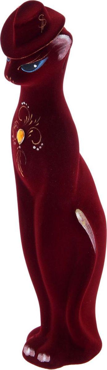 Копилка Керамика ручной работы Багира в шляпе, цвет: бордовый, 10 х 10 х 43 см1892601Копилка — универсальный вариант подарка любому человеку, ведь каждый из нас мечтает о какой-то дорогостоящей вещи и откладывает или собирается откладывать деньги на её приобретение. Вместительная копилка станет прекрасным хранителем сбережений и украшением интерьера. Она выглядит так ярко и эффектно, что проходя мимо, обязательно захочется забросить пару монет. Обращаем ваше внимание, что копилка является одноразовой.