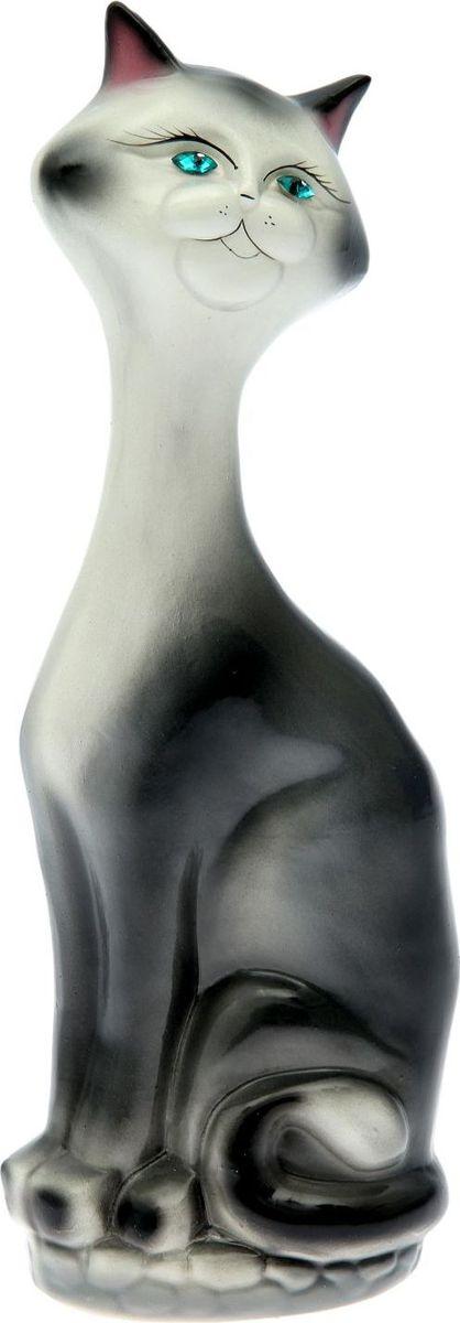 Копилка Керамика ручной работы Кот на камнях, 15 х 10 х 43 см1917223Копилка — универсальный вариант подарка любому человеку, ведь каждый из нас мечтает о какой-то дорогостоящей вещи и откладывает или собирается откладывать деньги на её приобретение. Вместительная копилка станет прекрасным хранителем сбережений и украшением интерьера. Она выглядит так ярко и эффектно, что проходя мимо, обязательно захочется забросить пару монет. Обращаем ваше внимание, что копилка является одноразовой.