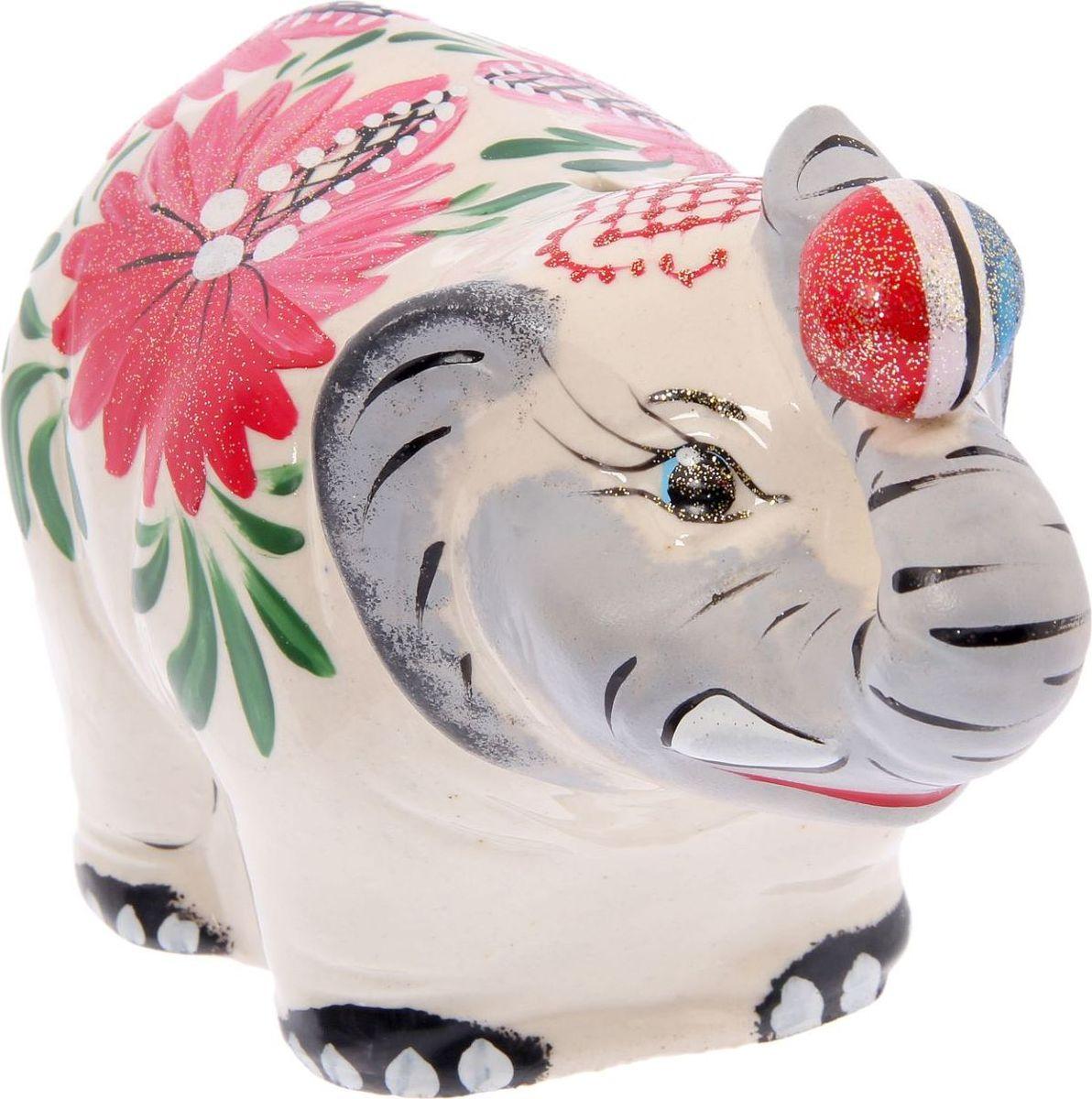 Копилка Керамика ручной работы Слон большой, 21 х 10 х 12 см2116416Копилка — универсальный вариант подарка любому человеку, ведь каждый из нас мечтает о какой-то дорогостоящей вещи и откладывает или собирается откладывать деньги на её приобретение. Вместительная копилка станет прекрасным хранителем сбережений и украшением интерьера. Она выглядит так ярко и эффектно, что проходя мимо, обязательно захочется забросить пару монет. Обращаем ваше внимание, что копилка является одноразовой.
