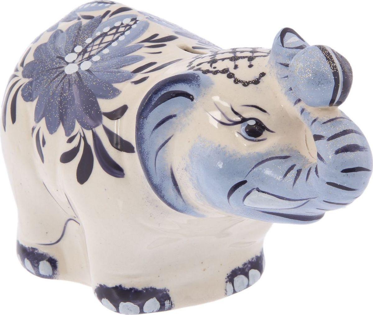 Копилка Керамика ручной работы Слон большой, 22 х 10 х 12,5 см копилка слон о бали