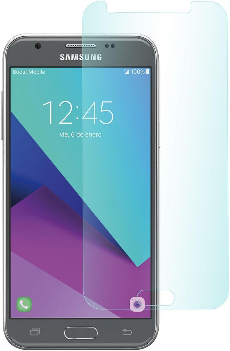 Skinbox защитное стекло для Samsung Galaxy J3 (2017), глянцевое2000000148304Защитное стекло Skinbox для Samsung Galaxy J3 (2017) обеспечивает надежную защиту сенсорного экрана устройства от большинства механических повреждений и сохраняет первоначальный вид дисплея, его цветопередачу и управляемость. В случае падения стекло амортизирует удар, позволяя сохранить экран целым и избежать дорогостоящего ремонта. Стекло обладает особой структурой, которая держится на экране без клея и сохраняет его чистым после удаления.