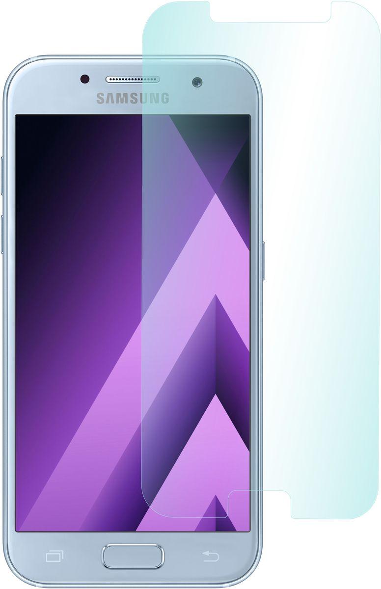 Skinbox защитное стекло для Samsung Galaxy A5 (2017), глянцевое2000000149103Защитное стекло Skinbox для Samsung Galaxy A5 (2017) обеспечивает надежную защиту сенсорного экрана устройства от большинства механических повреждений и сохраняет первоначальный вид дисплея, его цветопередачу и управляемость. В случае падения стекло амортизирует удар, позволяя сохранить экран целым и избежать дорогостоящего ремонта. Стекло обладает особой структурой, которая держится на экране без клея и сохраняет его чистым после удаления.
