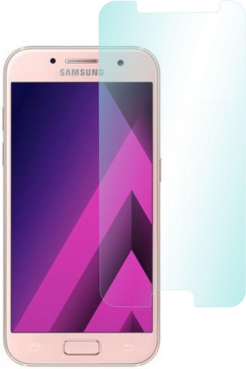 Skinbox защитное стекло для Samsung Galaxy A3 (2017), глянцевое2000000149127Защитное стекло Skinbox для Samsung Galaxy A3 (2017) обеспечивает надежную защиту сенсорного экрана устройства от большинства механических повреждений и сохраняет первоначальный вид дисплея, его цветопередачу и управляемость. В случае падения стекло амортизирует удар, позволяя сохранить экран целым и избежать дорогостоящего ремонта. Стекло обладает особой структурой, которая держится на экране без клея и сохраняет его чистым после удаления.