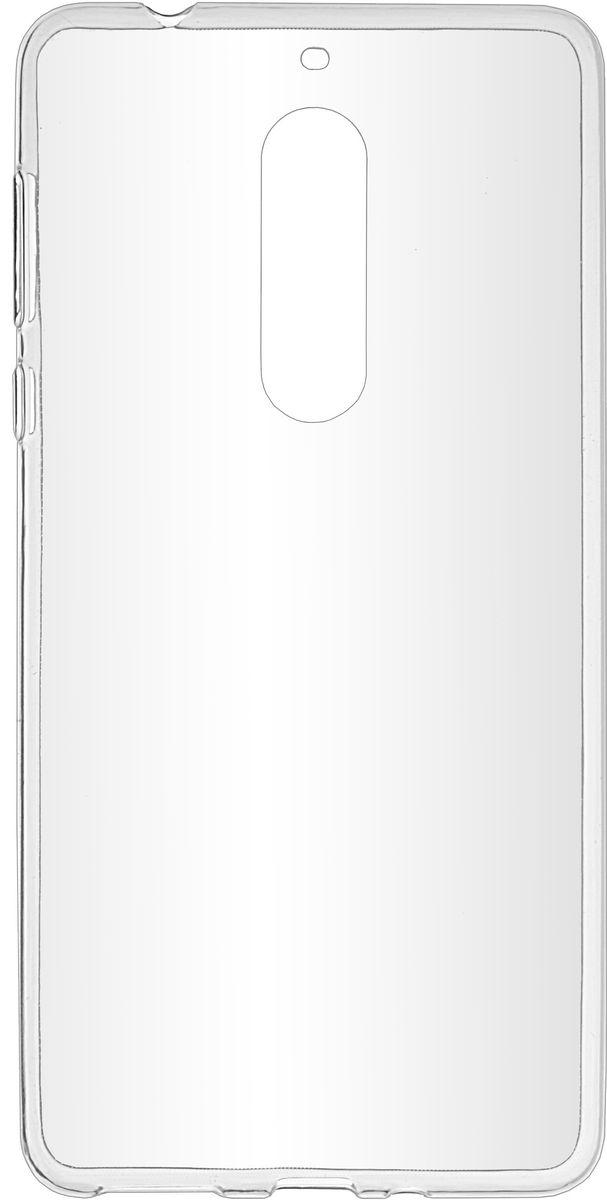 Skinbox Slim Silicone чехол-накладка для Nokia 5, Transparent2000000137469Чехол-накладка Skinbox Slim Silicone для Nokia 5 обеспечивает надежную защиту корпуса смартфона от механических повреждений и надолго сохраняет его привлекательный внешний вид. Накладка выполнена из высококачественного силикона, плотно прилегает и не скользит в руках. Чехол также обеспечивает свободный доступ ко всем разъемам и клавишам устройства.