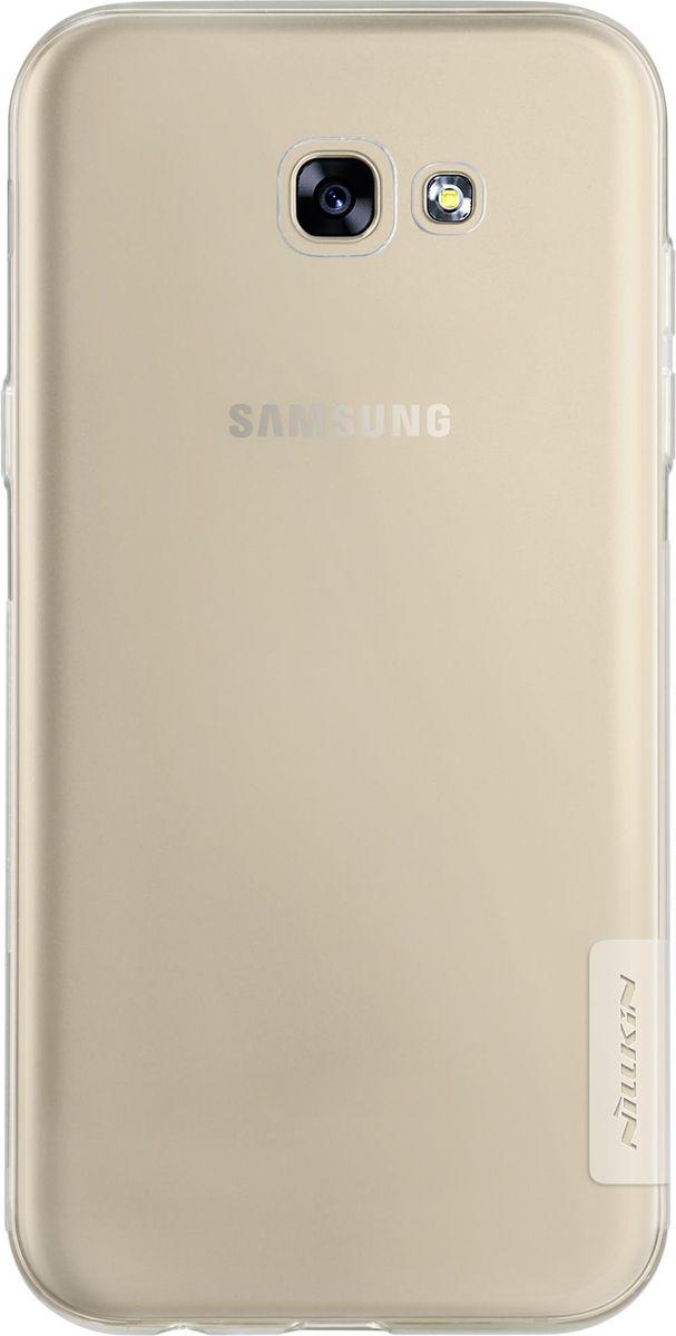 Nillkin Nature TPU Case чехол-накладка для Samsung Galaxy A5 (2017), White2000000131764Чехол надежно защищает ваш смартфон от внешних воздействий, грязи, пыли, брызг. Он также поможет при ударах и падениях, не позволив образоваться на корпусе царапинам и потертостям. Чехол обеспечивает свободный доступ ко всем функциональным кнопкам смартфона и камере.
