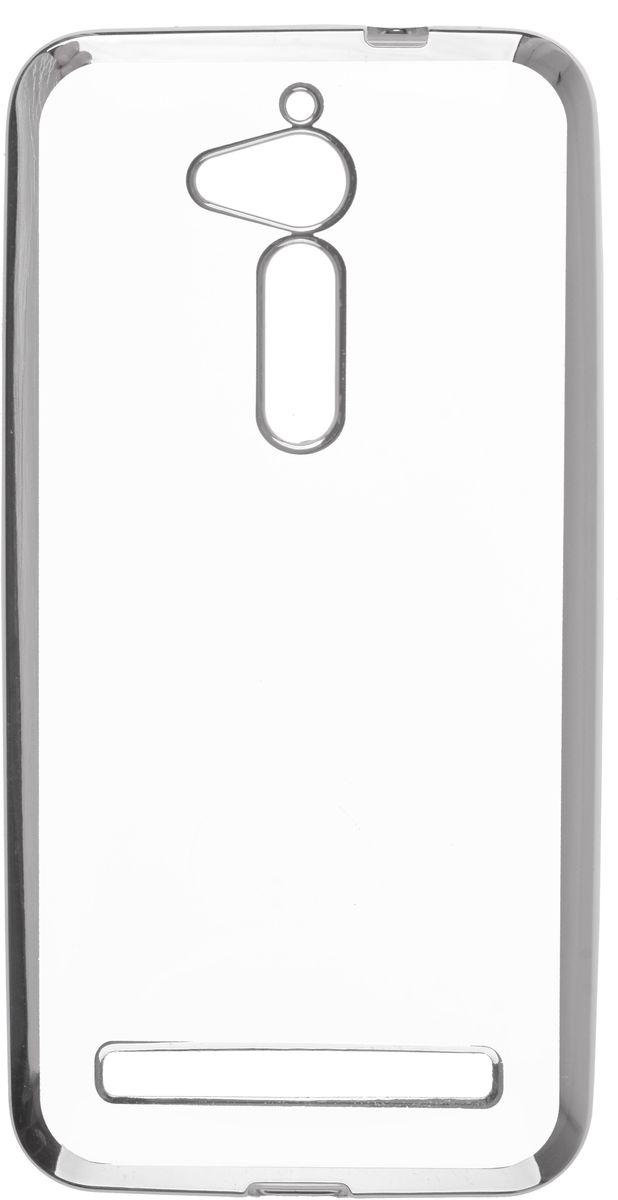 Skinbox 4People Silicone Chrome Border чехол-накладка для Asus ZenFone Go ZB500KG, Silver2000000125398Чехол надежно защищает ваш смартфон от внешних воздействий, грязи, пыли, брызг. Он также поможет при ударах и падениях, не позволив образоваться на корпусе царапинам и потертостям. Чехол обеспечивает свободный доступ ко всем функциональным кнопкам смартфона и камере.