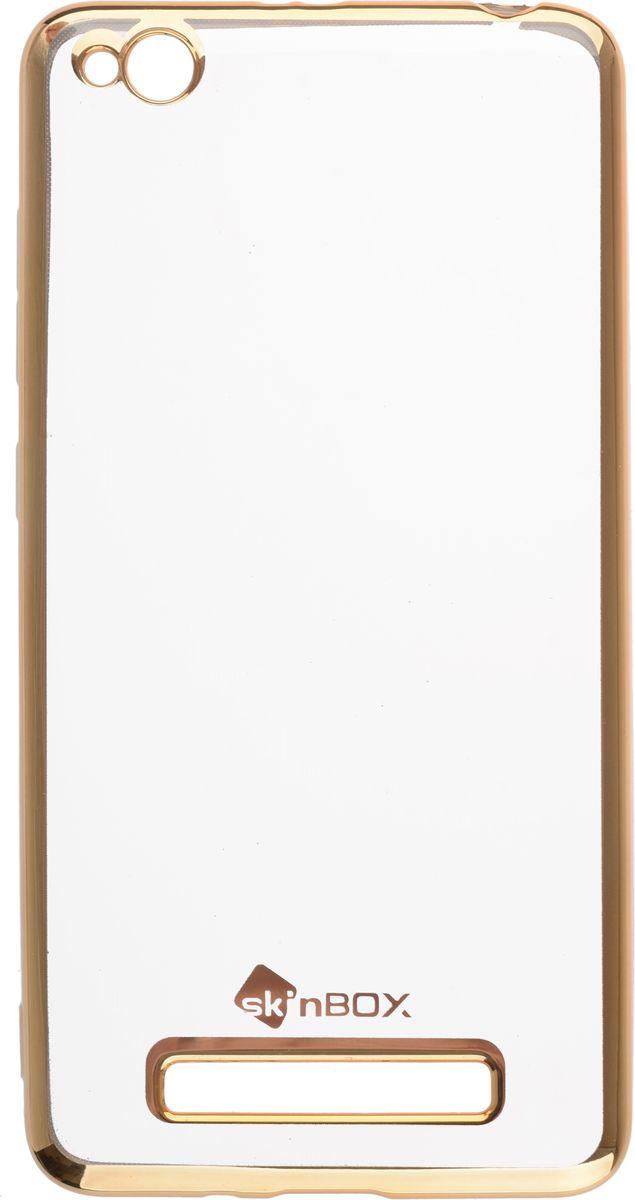 Skinbox 4People Silicone Chrome Border чехол-накладка для Xiaomi RedMi 4A, Gold2000000131900Чехол-накладка Skinbox 4People Silicone Chrome Border для Xiaomi RedMi 4A обеспечивает надежную защиту корпуса смартфона от механических повреждений и надолго сохраняет его привлекательный внешний вид. Накладка выполнена из высококачественного силикона, плотно прилегает и не скользит в руках. Чехол также обеспечивает свободный доступ ко всем разъемам и клавишам устройства.
