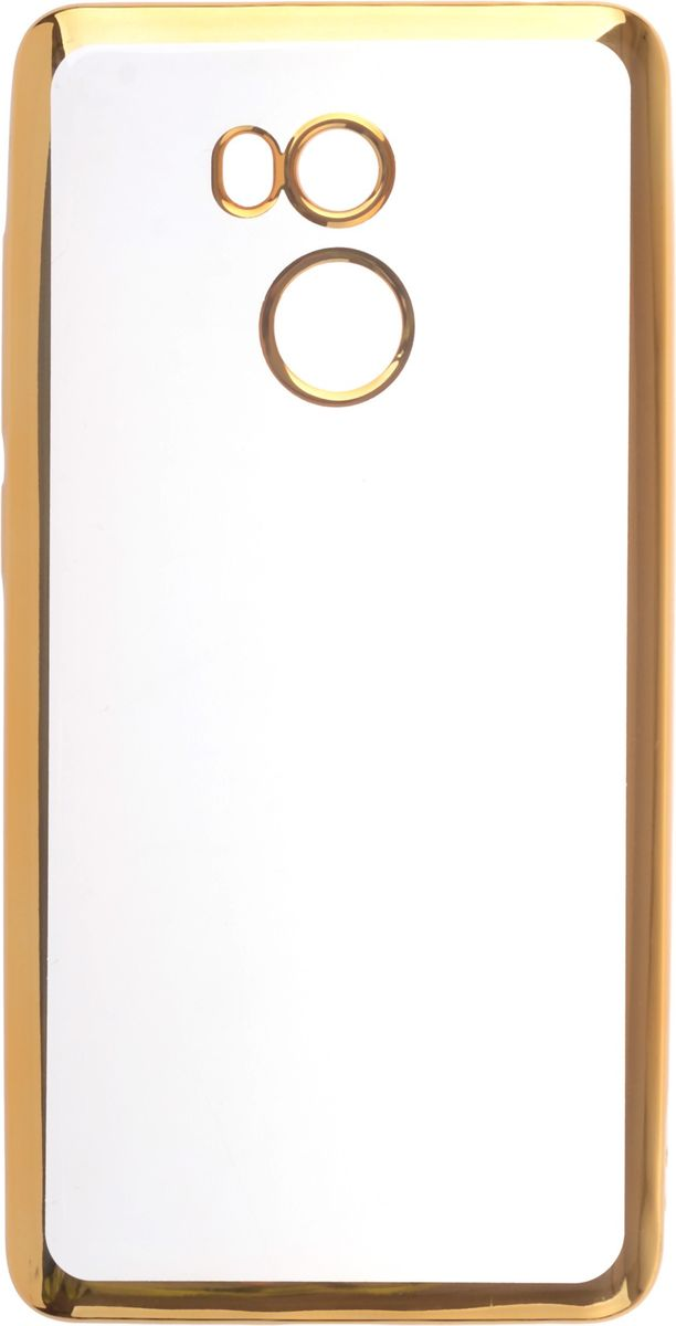 Skinbox 4People Silicone Chrome Border чехол-накладка для Xiaomi RedMi  Pro/Prime, Gold
