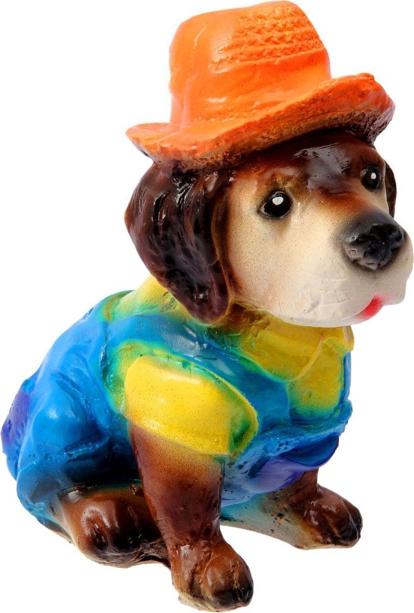Фигура садовая Собака в шляпе, 15 х 11 х 22 см2330733Летом практически каждая семья стремится проводить больше времени за городом. Садовая фигура — прекрасный выбор для комфортного отдыха и эффективного труда на даче, который будет радовать вас достойным качеством.