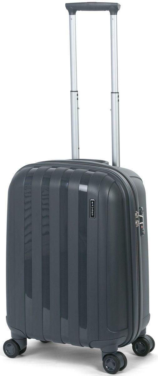 Чемодан Baudet, на колесах, цвет: темно-серый, 40 х 28 х 52 см, 58 л чемодан samsonite чемодан 55 см lite biz