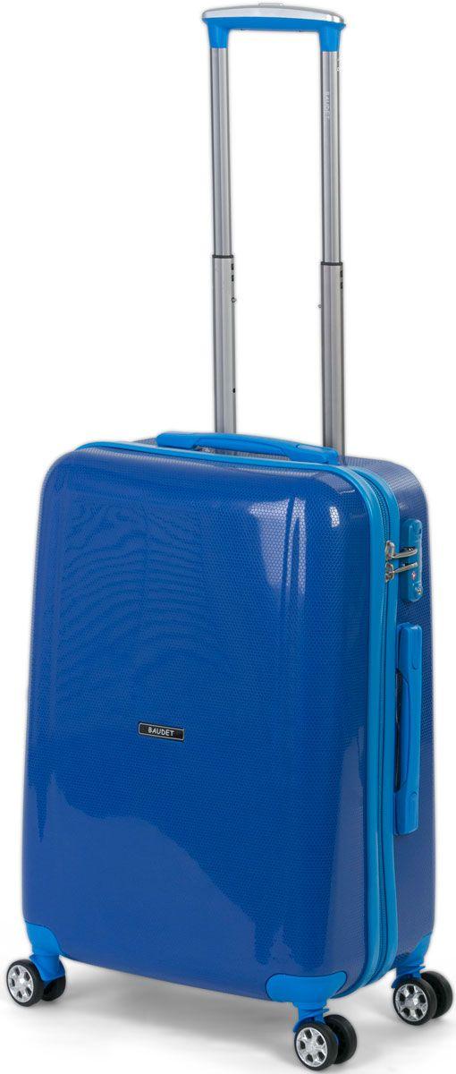 Чемодан Baudet, на колесах, цвет: синий, 40 х 25 х 55 см, 55 лBHL0710806-55Чемодан пластиковый на 4-х колесах BAUDET ROYAL BLUE PP/60 S. Чемодан выполнен из полипропилена - материала, обладающего высокой ударопрочностью и стойкостью к механическим повреждениям. Система колес, вращающихся на 360°, равномерно распределяет нагрузку и позволяет легко катить чемодан по любой твердой поверхности. Колеса изготовлены из прорезиненного материала. Чемодан оснащен кодовым замком TSA, который исключает возможность взлома. Отверстие для ключа в кодовом замке предназначено для работников таможни (открытие багажа для досмотра без присутствия хозяина). Ключ находится только у таможни и в комплекте с чемоданом не идет. Детали: боковые ножки позволят ставить багаж горизонтально; прижимные ремни и перегородка разделяют внутреннее пространство; внутри сетчатый карман на молнии для документов; вес 3 кг; объем 55 л. Чемодан размера S подходит под размер ручной клади большинства авиакомпаний. Высота корпуса чемодана: 55 см.