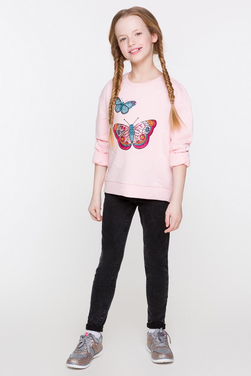 Свитшот для девочки Acoola Denmark, цвет: светло-розовый. 20210100128. Размер 158
