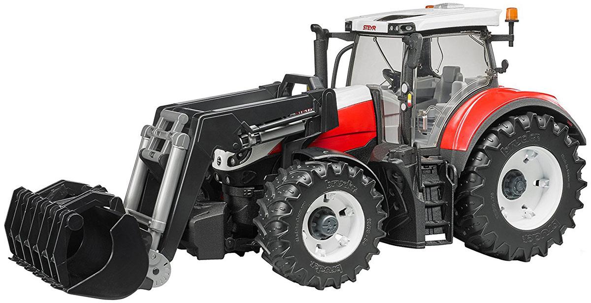 Bruder Трактор Steyr 6300 Terrus CVT c фронтальным погрузчиком куплю тракторные прицепы 2птс 4 5 тн
