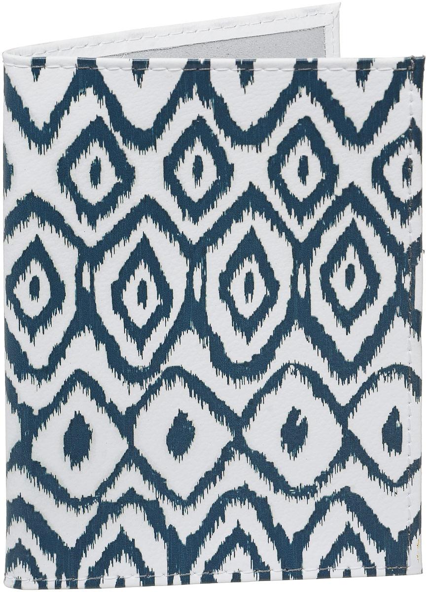 Обложка для паспорта Mitya Veselkov  Змея , цвет: черный, белый. OK416 - Обложки для паспорта