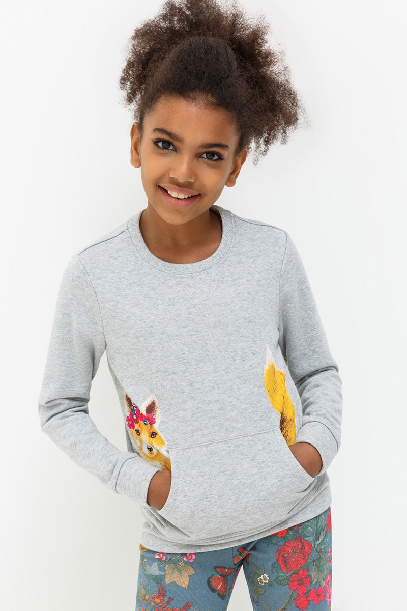 Джемпер для девочек Acoola Revlon, цвет: бежевый. 20210100130. Размер 14020210100130
