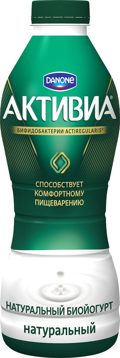 Активиа Биойогурт питьевой 2,4%, 870 г активия биойогурт питьевой манго яблоко 2 0