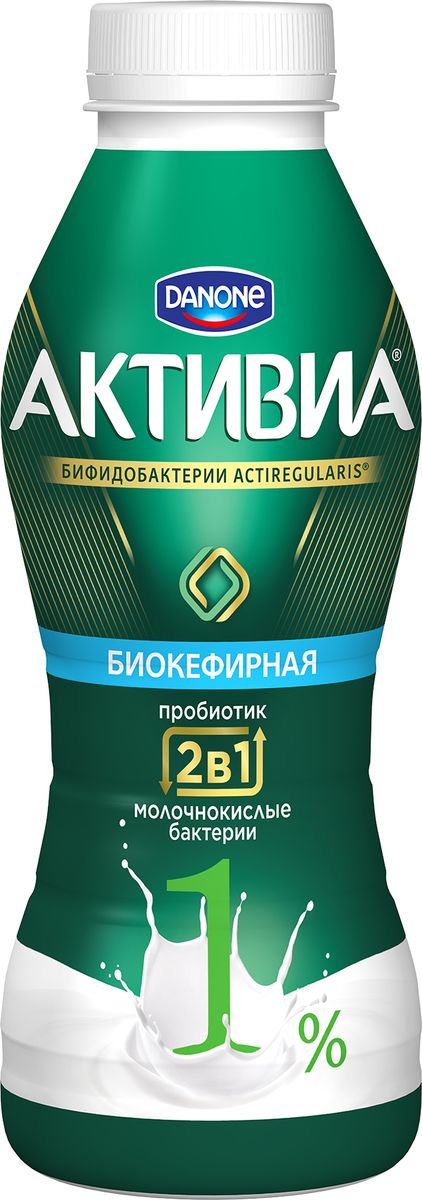 Активиа Биопродукт кефирный, обогащенный 1%, 450 г активиа биопродукт творожно йогуртный малина 4 2