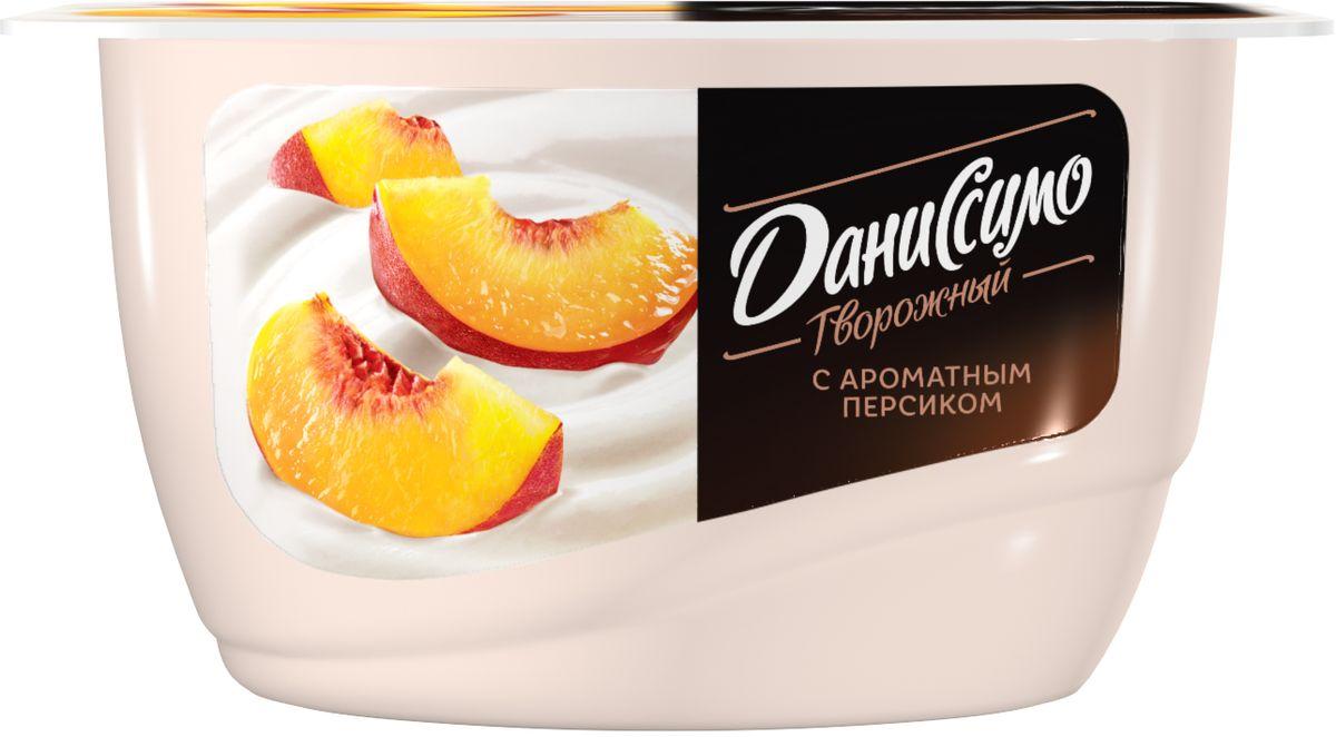 Даниссимо Продукт творожный Персик 5,4%, 130 г даниссимо продукт творожный браво шоколад 6 7