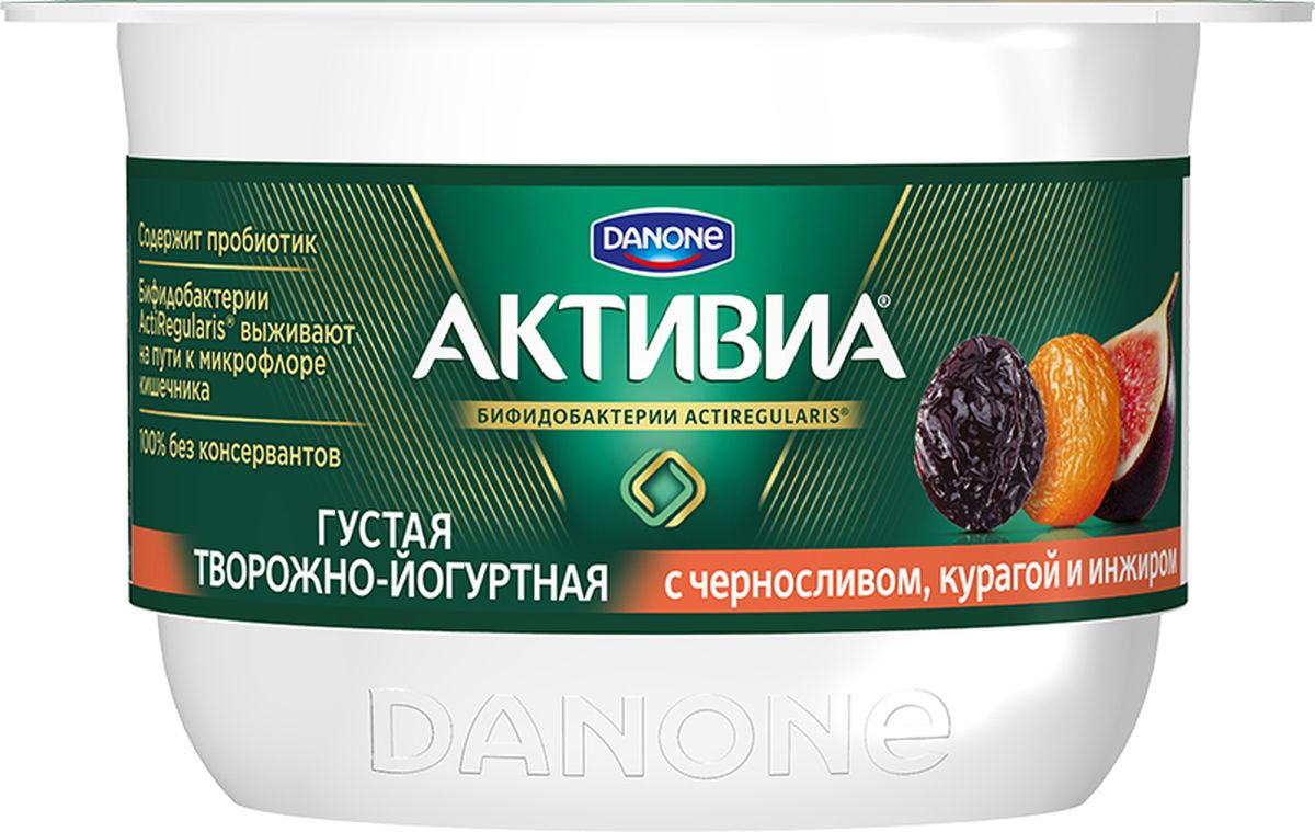 Активиа Биопродукт творожно-йогуртный Инжир курага чернослив 4,2%, 130 г биошампунь 2 с хной 130 г