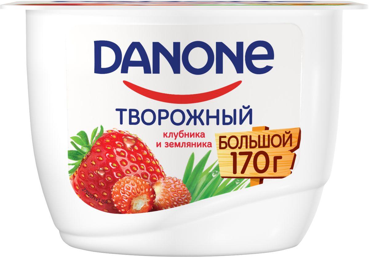 Danone Продукт творожный Клубника земляника 3,6%, 170 г жидкость сливки cover girl covergirl 3in1 810 30ml