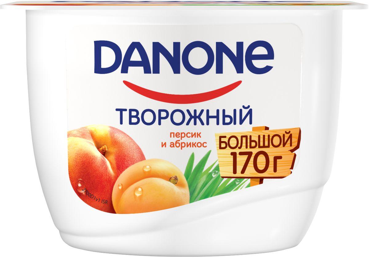 Danone Продукт творожный Персик абрикос 3,6%, 170 г danone продукт творожный груша банан 3 6