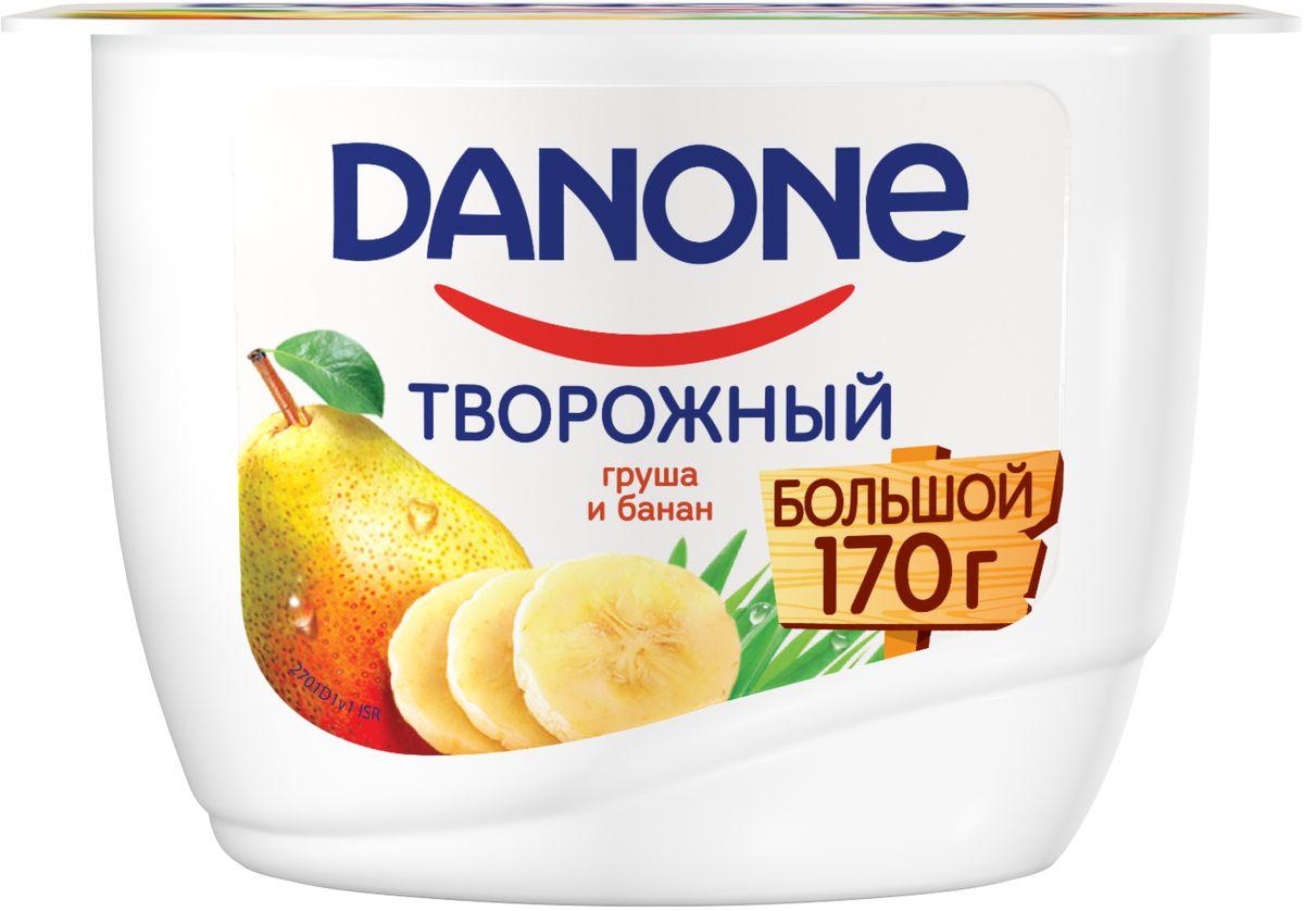 Danone Продукт творожный Груша банан 3,6%, 170 г danone йогурт густой натуральный 3 3