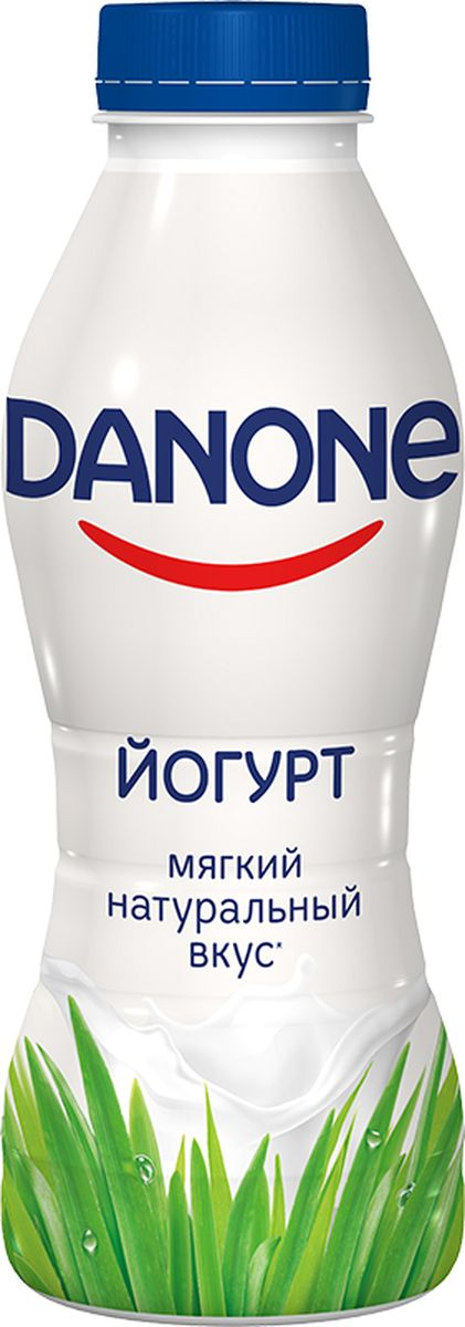 Danone Йогурт питьевой 2,5%, 430 г вкуснотеево йогурт с черникой питьевой 1 5% 750 г