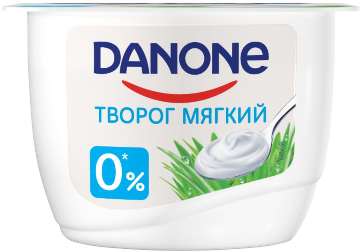 Danone Творог мягкий Натуральный 0,1%, 170 г danone продукт творожный груша банан 3 6