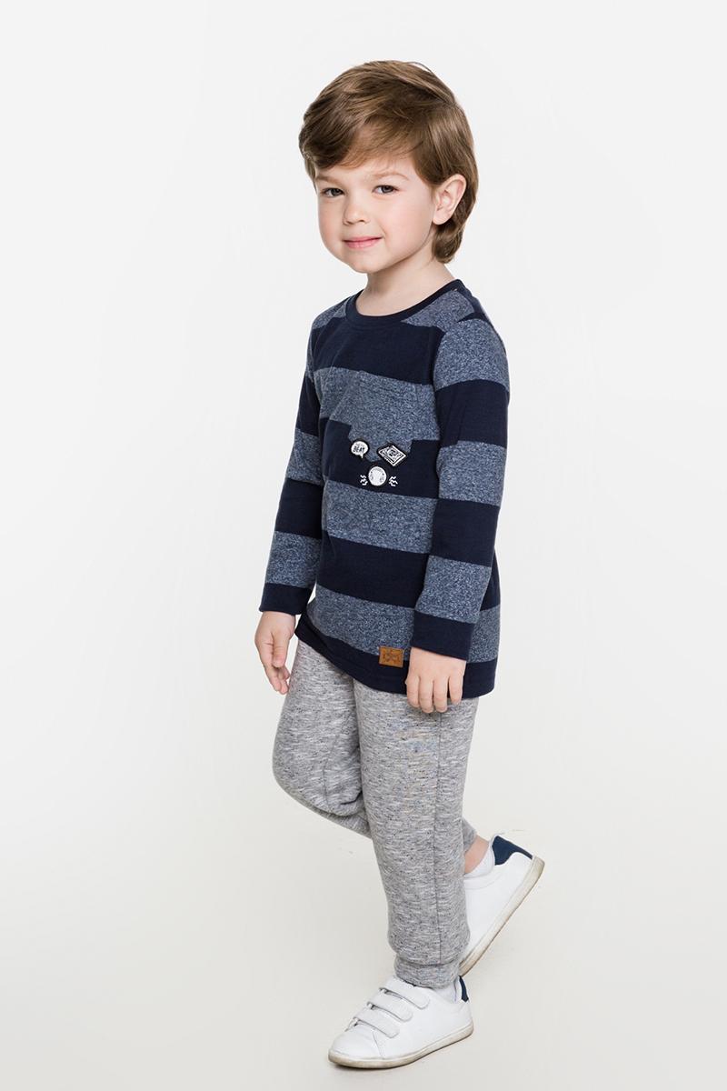Футболка с длинным рукавом для мальчика Acoola Bernina, цвет: темно-синий. 20120100090. Размер 11020120100090Стильная футболка с длинным рукавом для мальчика Acoola Bernina поможет создать модный повседневный образ и станет отличным дополнением гардероба. Модель прямого кроя с длинными рукавами изготовлена из меланжевого трикотажа в полоску и дополнена нагрудным карманом с нашивками. Круглый вырез горловины дополнен мягкой трикотажной резинкой. Модель подойдет для прогулок и дружеских встреч и будет отлично сочетаться с джинсами и брюками. Мягкая ткань на основе хлопка приятна на ощупь и комфортна в носке.