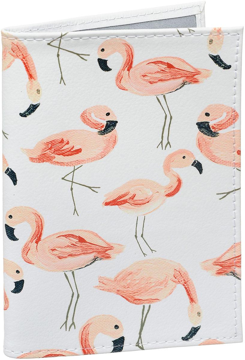 Обложка для паспорта Mitya Veselkov Розовый фламинго, цвет: розовый, белый. OK427Натуральная кожаОбложка для паспорта Mitya Veselkov выполнена из натуральной кожи. Такая обложка не только поможет сохранить внешний вид ваших документов и защитит их от повреждений, но и станет стильным аксессуаром, идеально подходящим вашему образу. Яркая и оригинальная обложка подчеркнет вашу индивидуальность и изысканный вкус.Обложка для паспорта стильного дизайна может быть достойным и оригинальным подарком. Обложка подходит как для российского, так и для заграничного паспорта. Размер: 13,8 x 9,5 см.