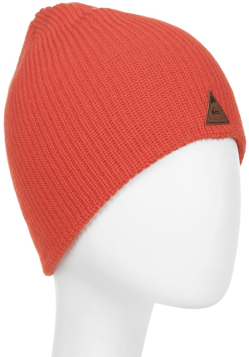 Шапка мужская Quiksilver, цвет: рыжий. EQYHA03072-NMS0. Размер универсальныйEQYHA03072-NMS0Вязаная шапка Quiksilver выполнена из акрила. Модель оформлена фирменной нашивкой.