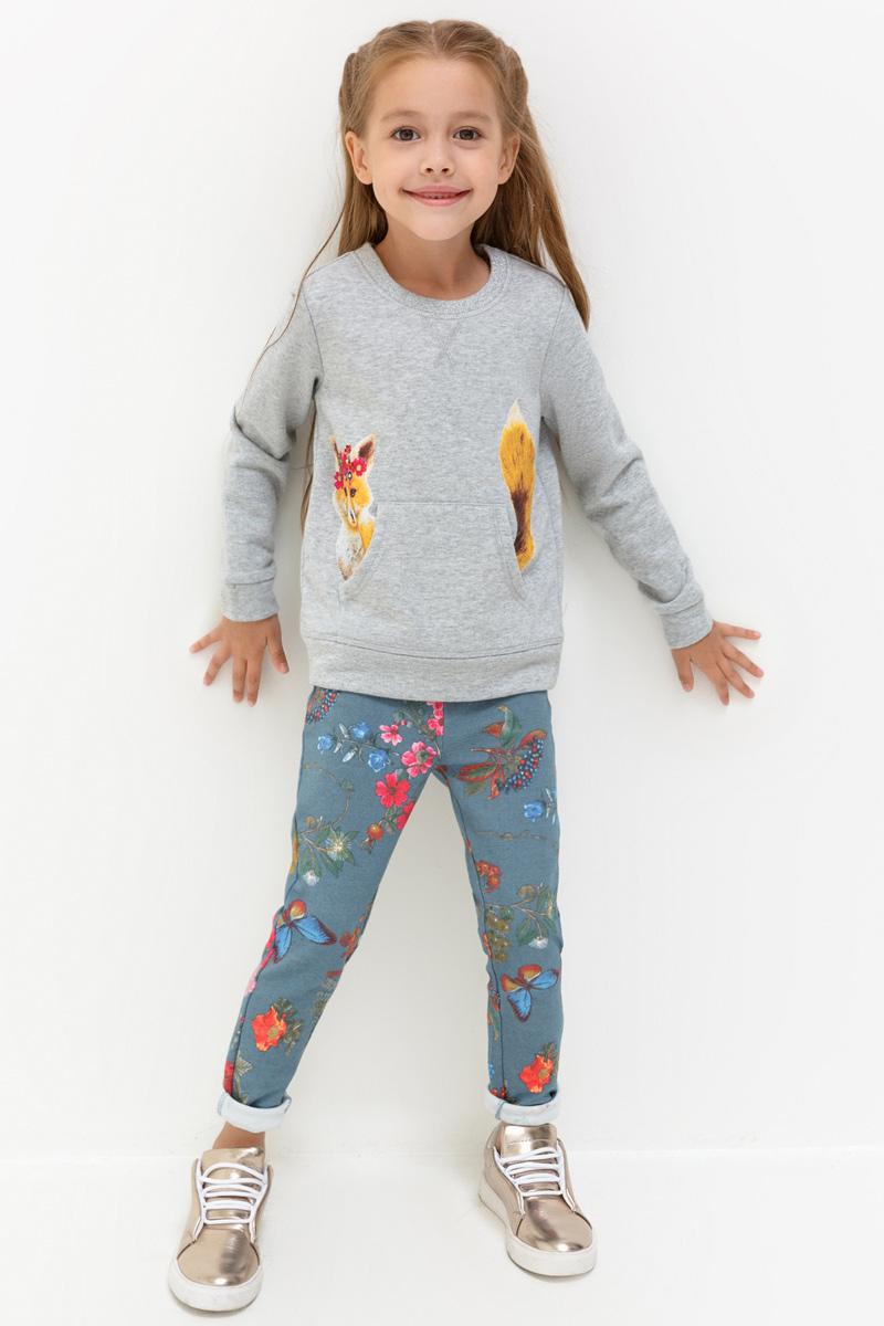 Брюки для девочек Acoola Bourjois, цвет: светло-синий. 20220160126. Размер 9820220160126