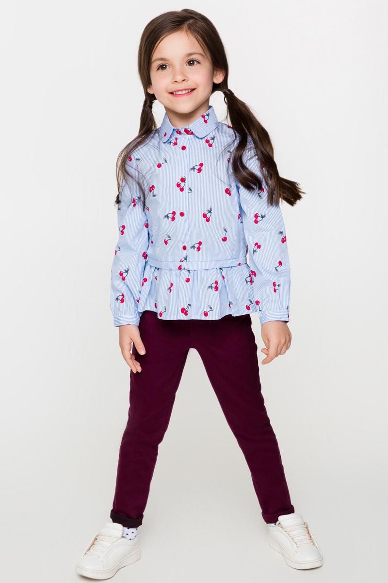 Брюки для девочек Acoola Calypso2, цвет: бордовый. 20220160119. Размер 11020220160119