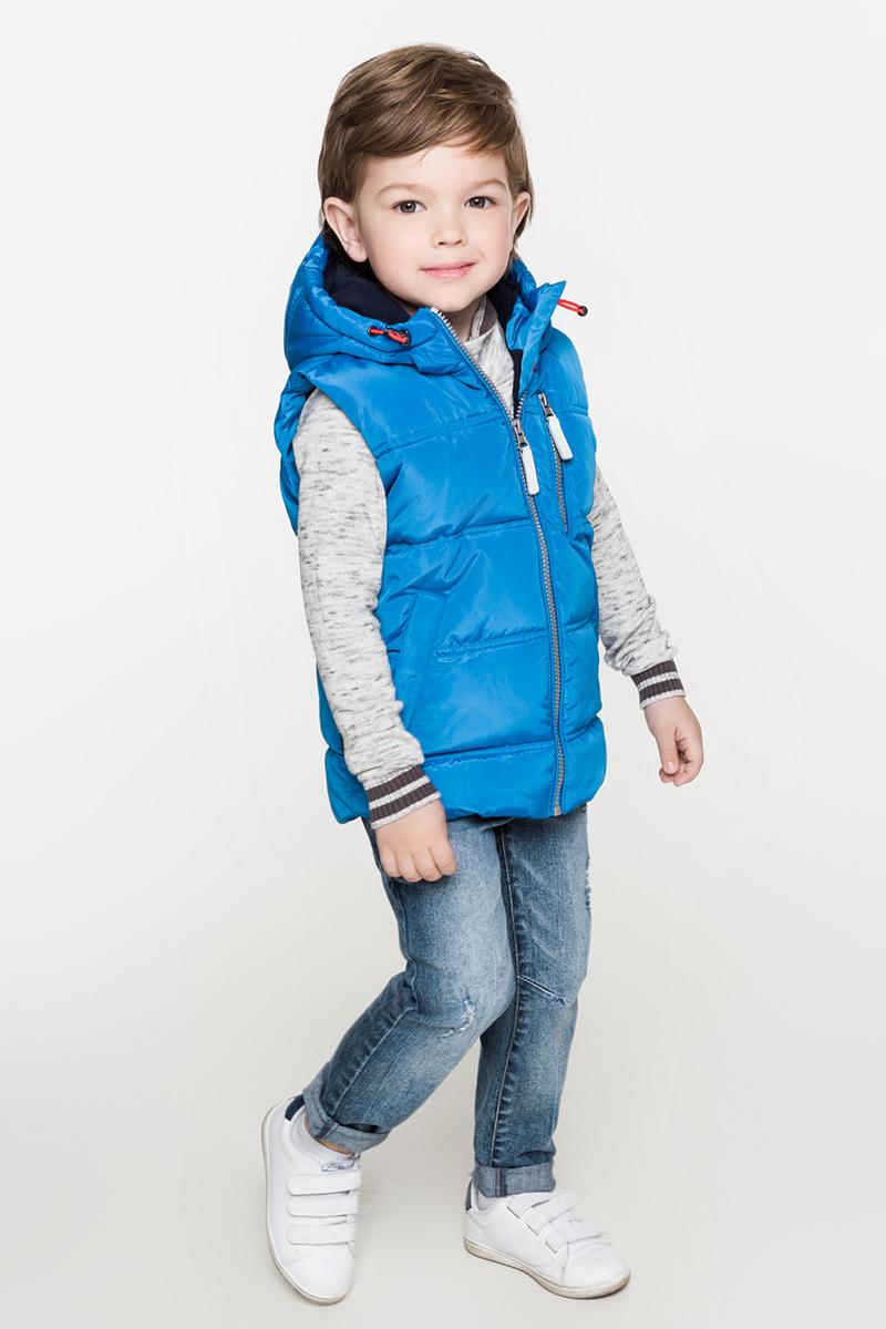 Жилет утепленный для мальчиков Acoola Sancho, цвет: синий. 20120400014. Размер 12820120400014