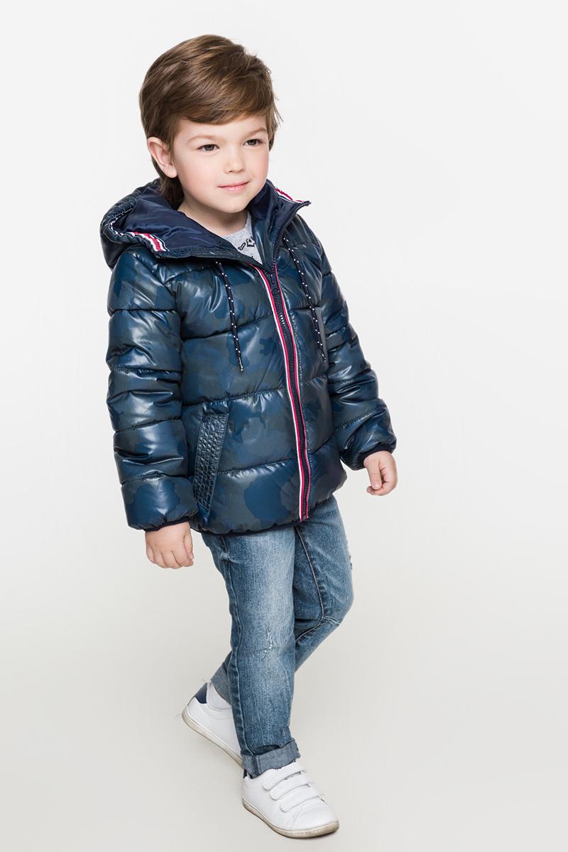 Куртка для мальчиков Acoola Benito, цвет: темно-синий. 20120130093. Размер 12820120130093