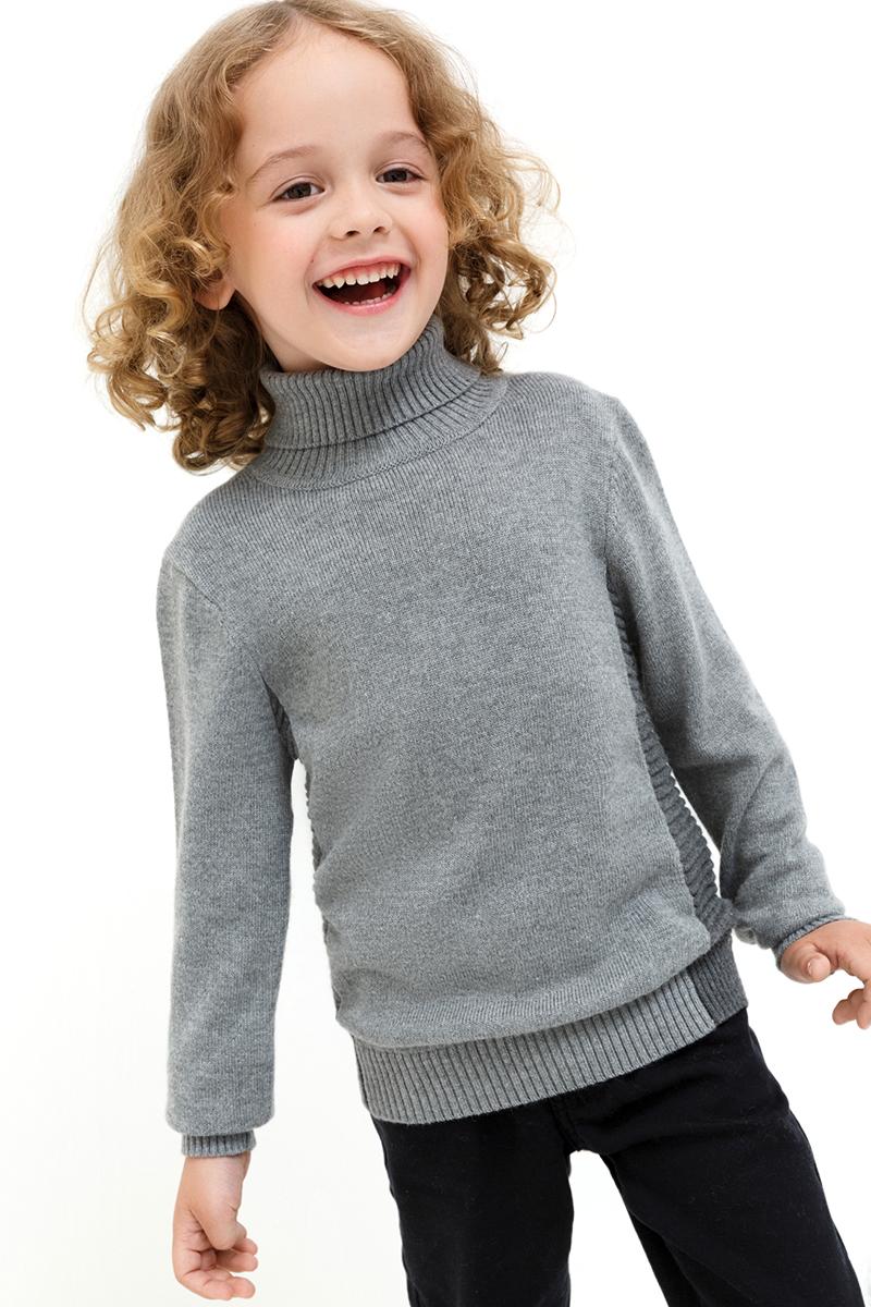 Свитер для мальчиков Acoola Acura, цвет: серый. 20120320022. Размер 11620120320022
