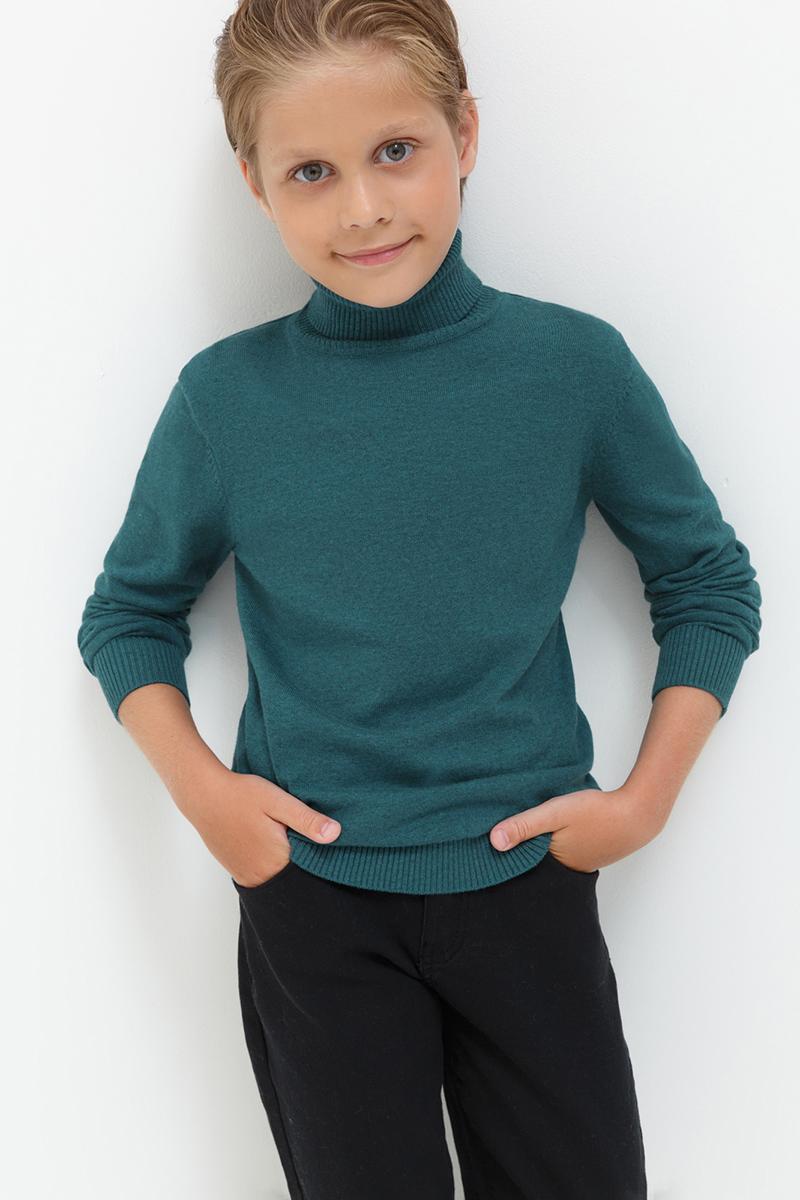 Свитер для мальчиков Acoola Kalina, цвет: темно-зеленый. 20110320025. Размер 14620110320025