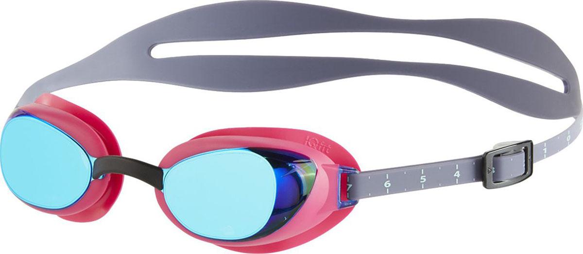 Очки для плавания Speedo Aquapure Mirror Female, цвет: розовый, голубой8-09003B770В очках Aquapure используется технология IQ Fit для идеальной посадки на лице, достигаемой в результате многочисленных исследований контуров человеческого лица. Дополнительному комфорту служат сменные переносицы. Даже после длительных тренировок в воде очки оставляют минимальное количество следов под глазами. МАТЕРИАЛЫ: линзы – поликарбонат; уплотнитель – термопластичная резина; ремешок – силикон; линзы с защитой от ультрафиолетовых лучей.