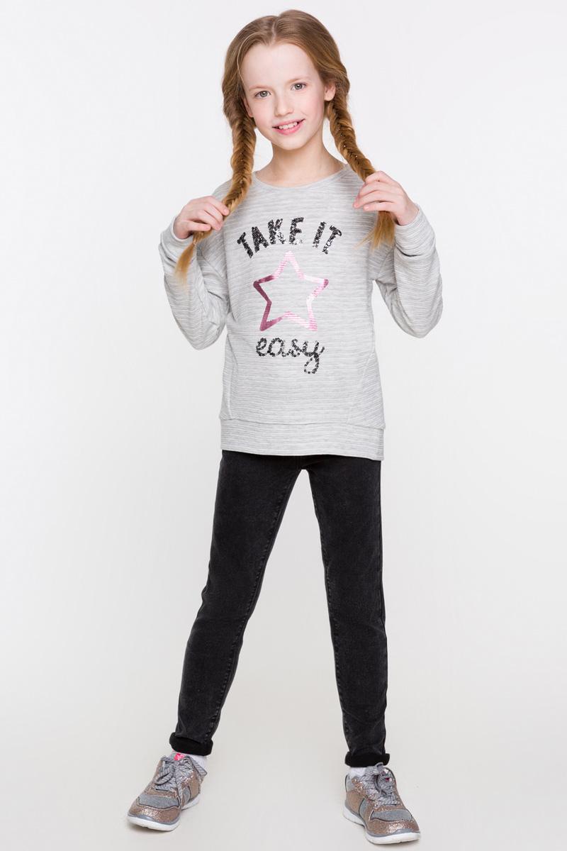 Джинсы для девочки Acoola Margherita, цвет: черный. 20210160105. Размер 13420210160105Облегающие джинсы от Acoola выполнены из стираного эластичного денима. Модель с пятью карманами, регулируемой резинкой на талии, застежкой на молнию и пуговицу.