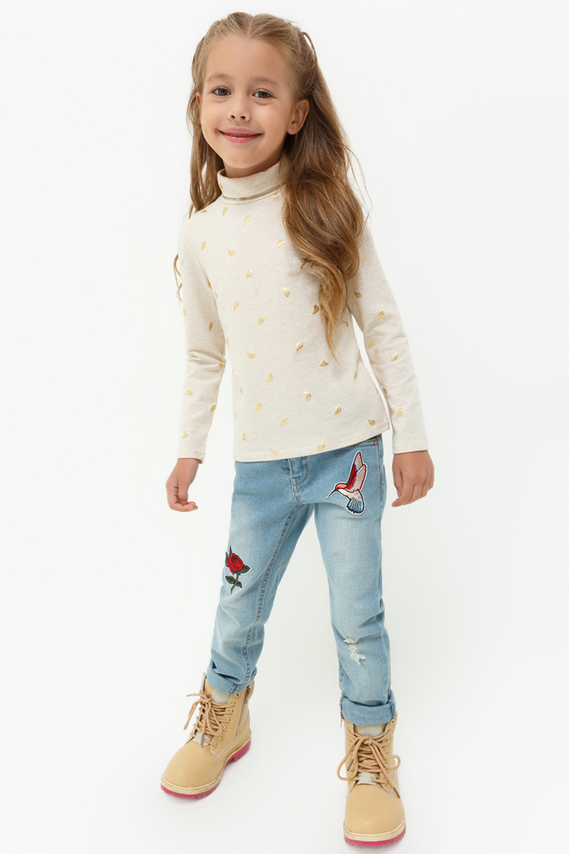 Джинсы для девочки Acoola Marinara, цвет: синий. 20220160113. Размер 10420220160113Облегающие джинсы от Acoola выполнены из стираного эластичного денима, декорированные выбеленным эффектом, искусственными потертостями и яркими нашивками. Модель с пятью карманами, регулируемой резинкой на талии, застежкой на молнию и крючок.