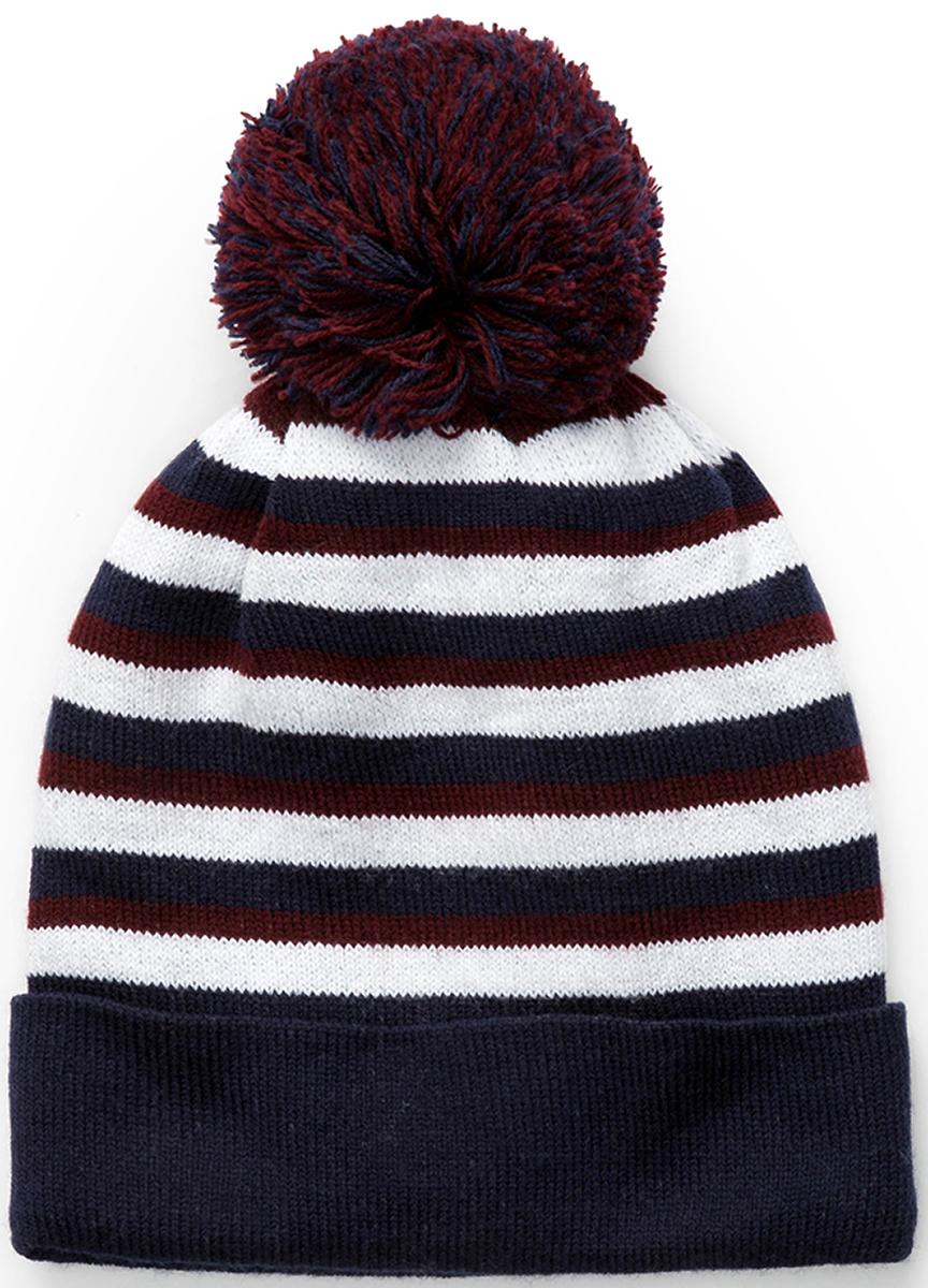 Шапка для мальчика Acoola Ciro, цвет: темно-синий, белый. 20136400030. Размер S (50/52)20136400030Детская шапка от Acoola выполнена из натуральной акриловой пряжи и оформлена помпоном. Такая шапка согреет вашего ребенка в холодное время года.