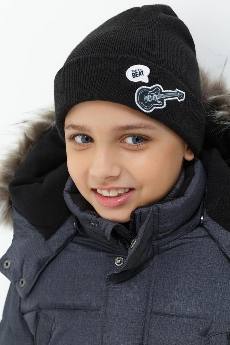 Шапка для мальчика Acoola Lolo, цвет: черный. 20136400033. Размер S (50/52)20136400033Детская шапка от Acoola выполнена из натуральной акриловой пряжи и дополнена отворотом. Такая шапка согреет вашего ребенка в холодное время года.