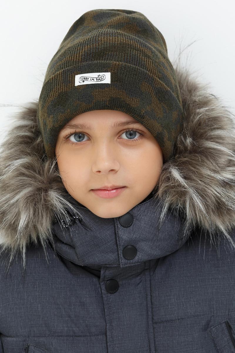 Шапка для мальчика Acoola Lom, цвет: хаки. 20136400028. Размер XS (50)20136400028Детская шапка от Acoola выполнена из натуральной акриловой пряжи и дополнена отворотом. Такая шапка согреет вашего ребенка в холодное время года.
